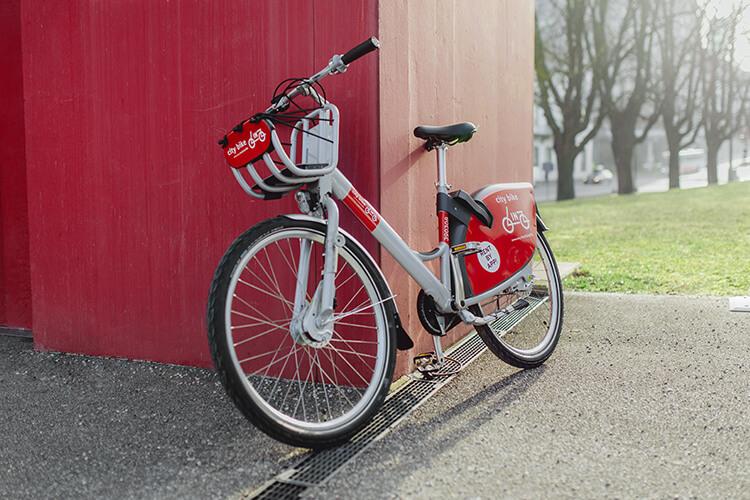 Fahrräder falsch abgestellt