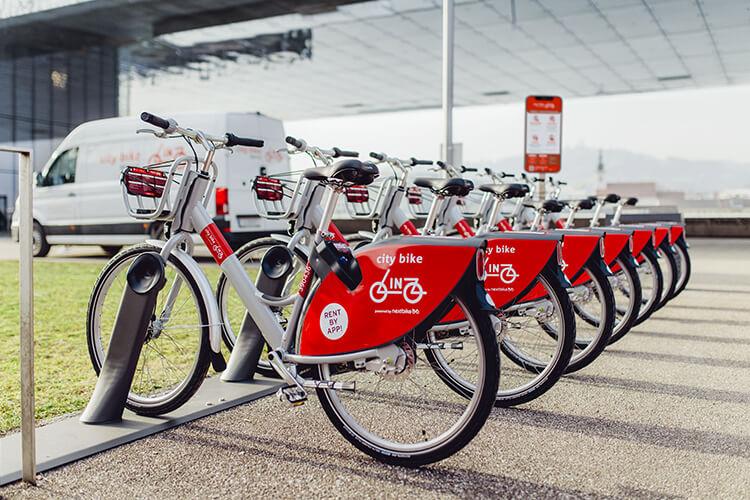 Fahrräder richtig abgestellt
